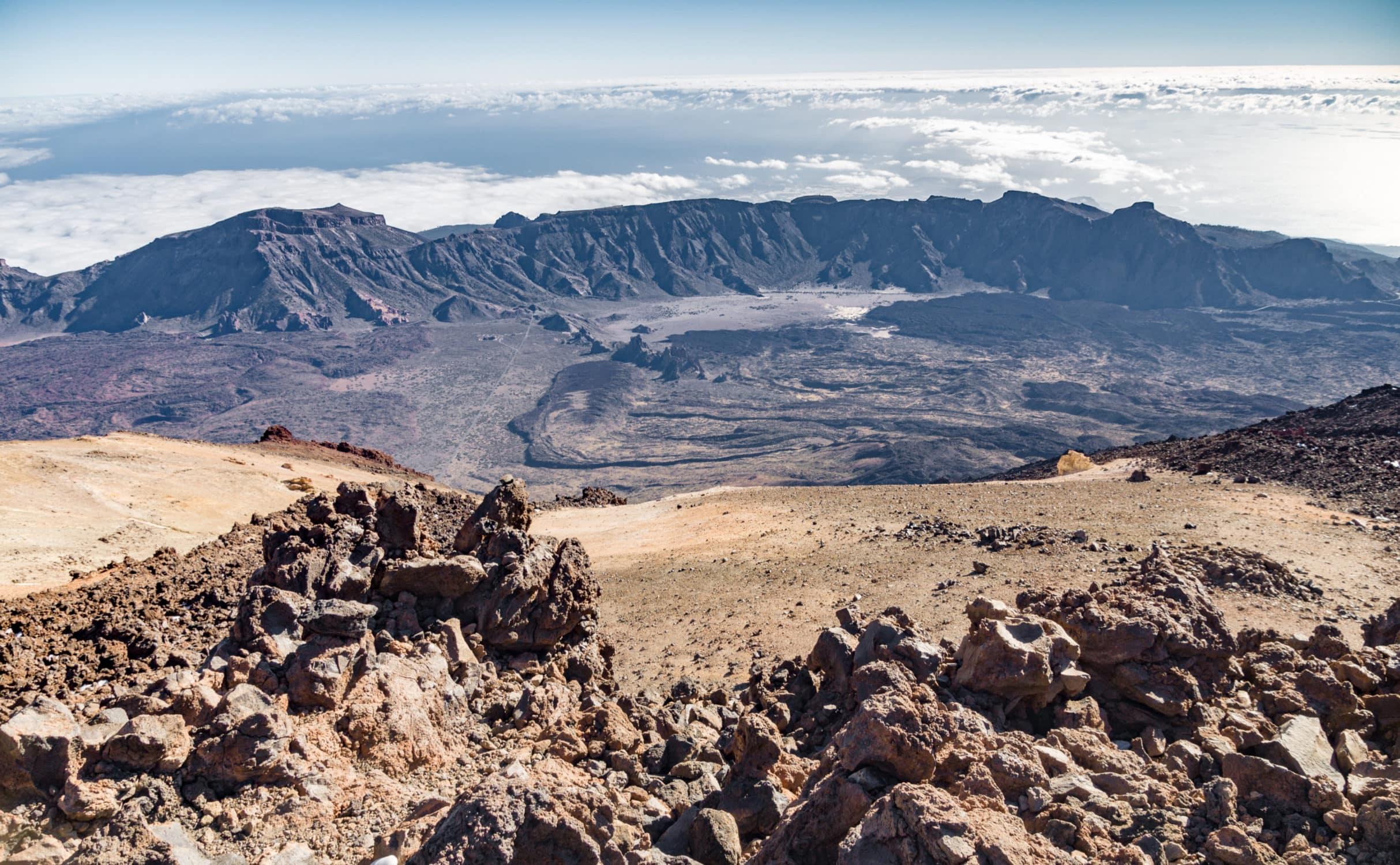 Caldera des Vulkans Teide