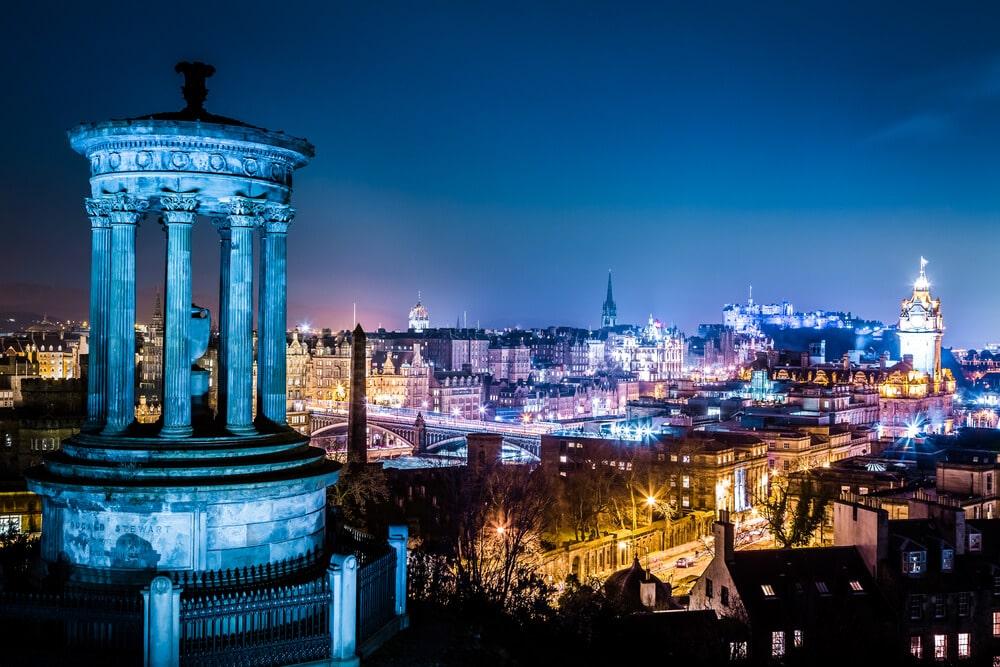 Ausblick auf Edinburgh: Calton Hill