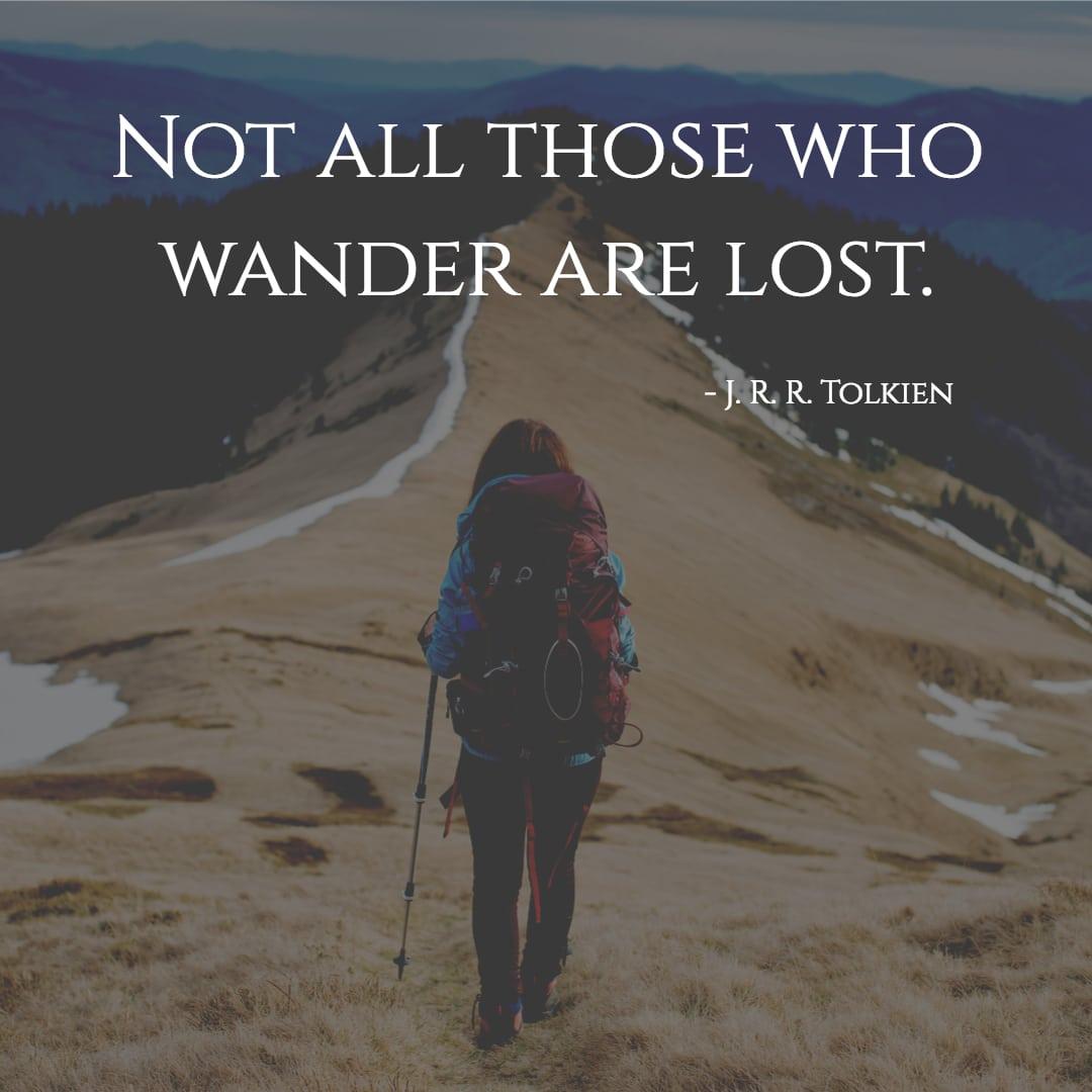 reisezitate tolkien those who wander