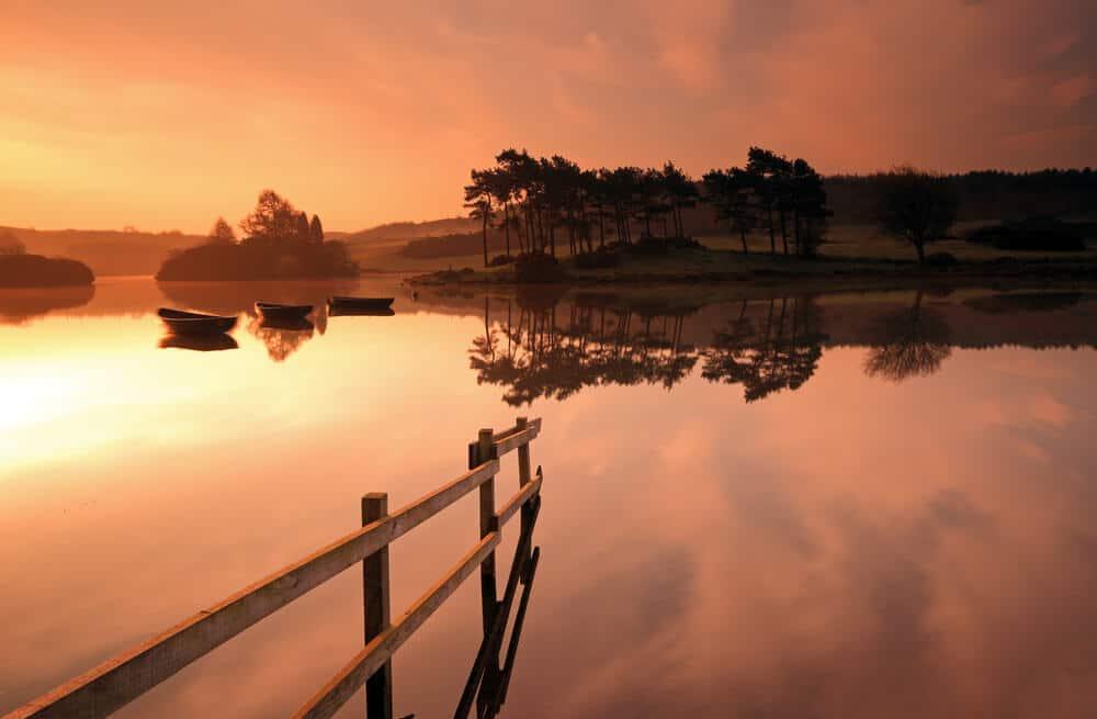 Sonnenuntergang in Schottland: Kilmacolm