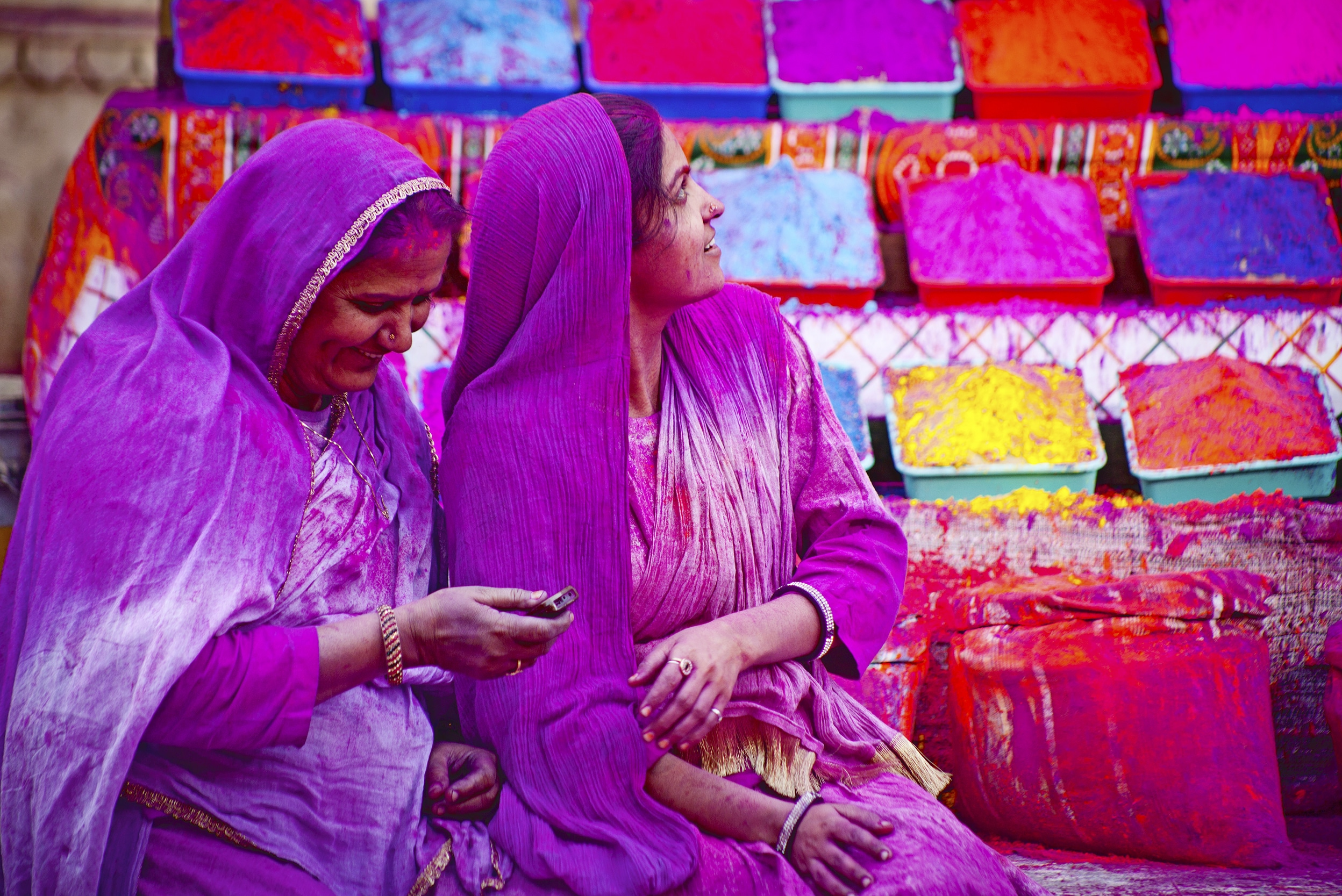 holi frstival of colours indien