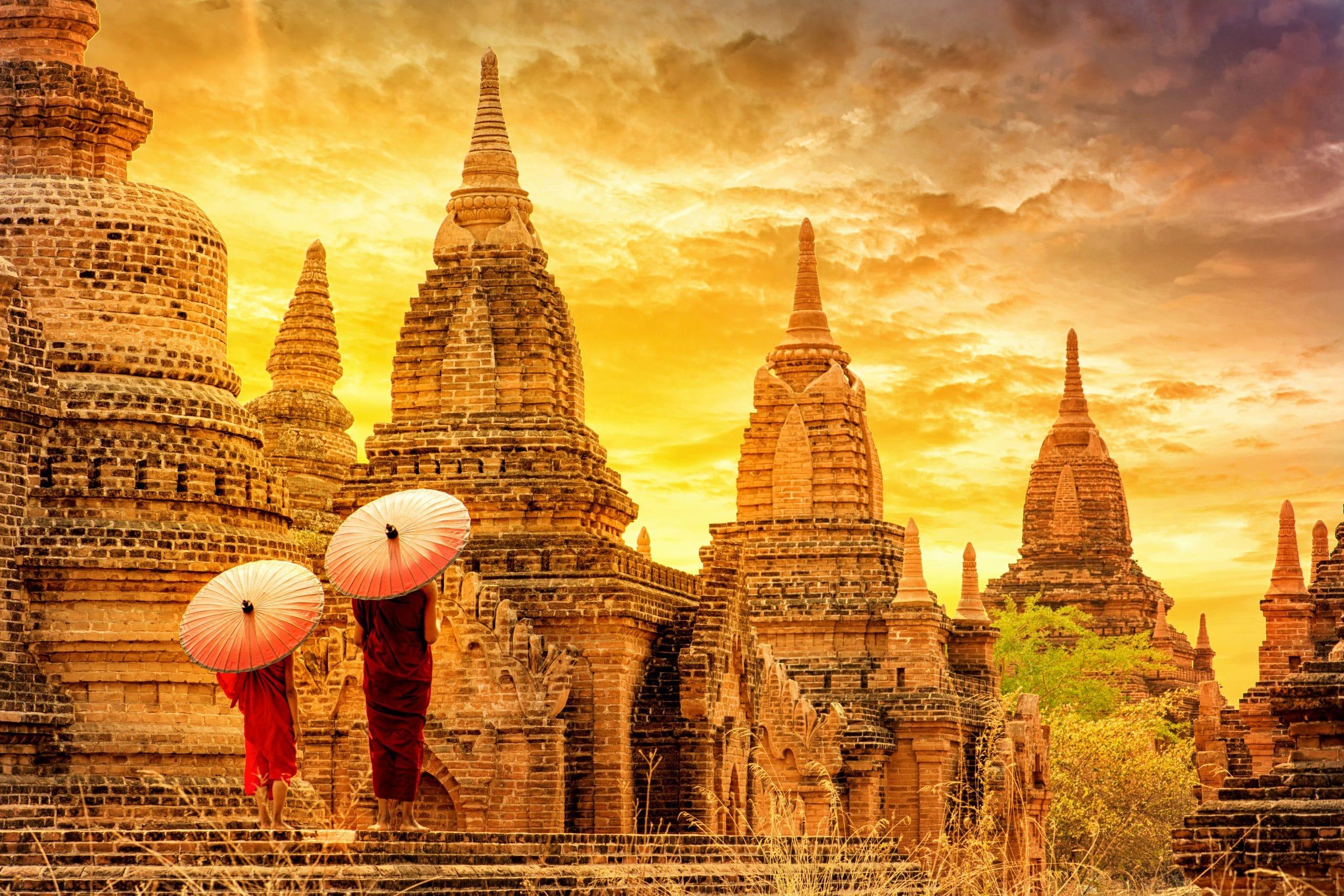 bagan pagode mönche