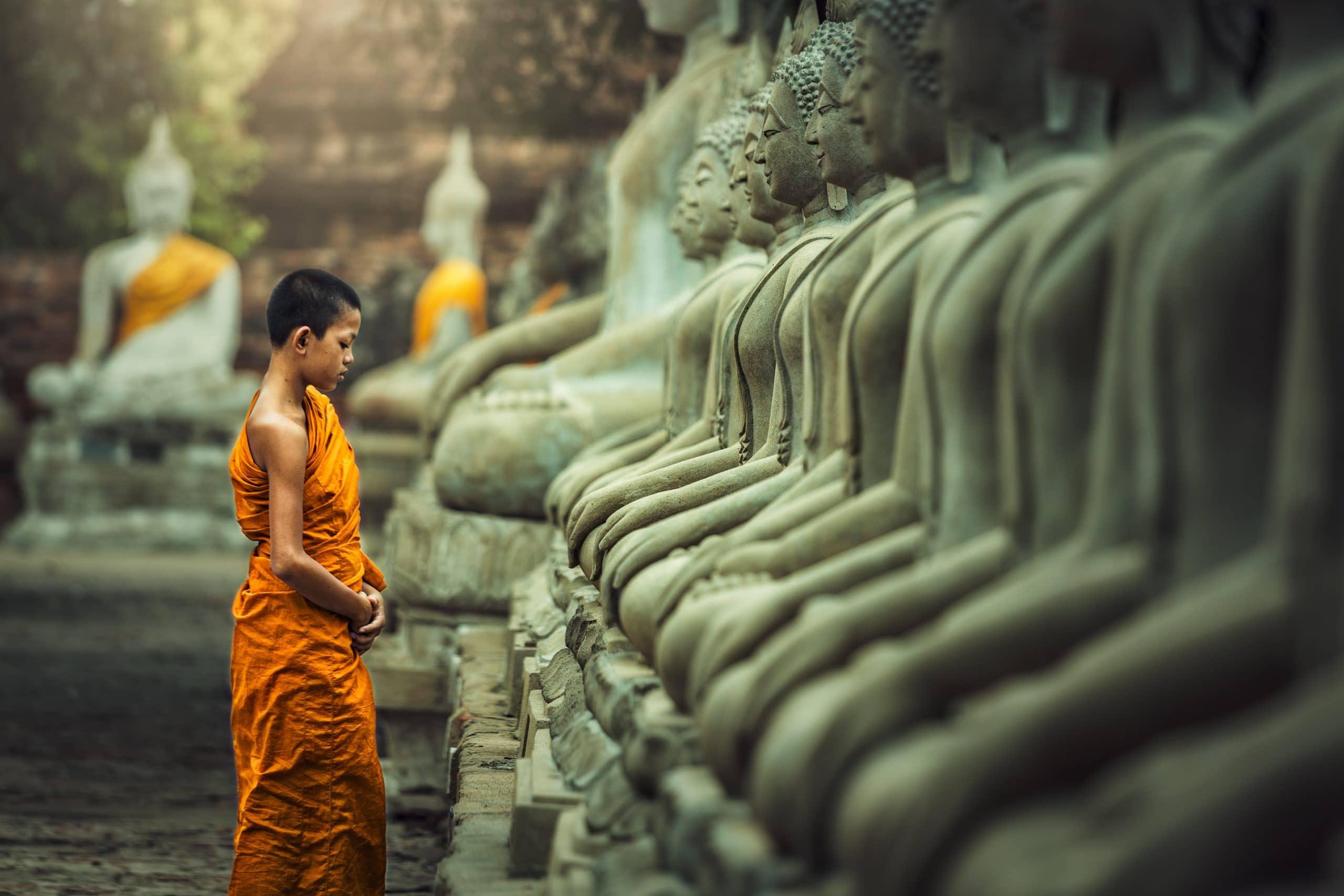 buddha statue mönch
