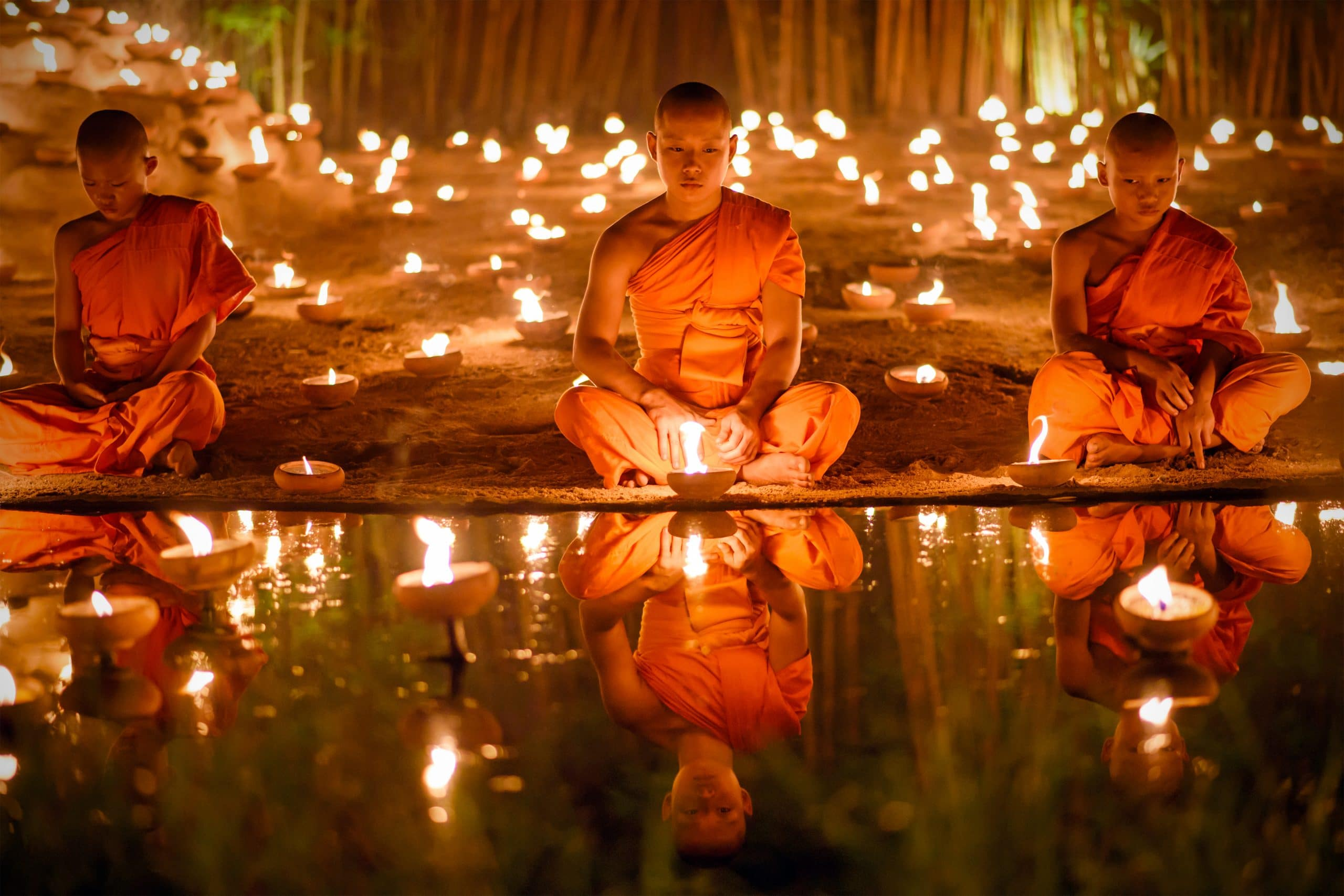 buddha thai mönche