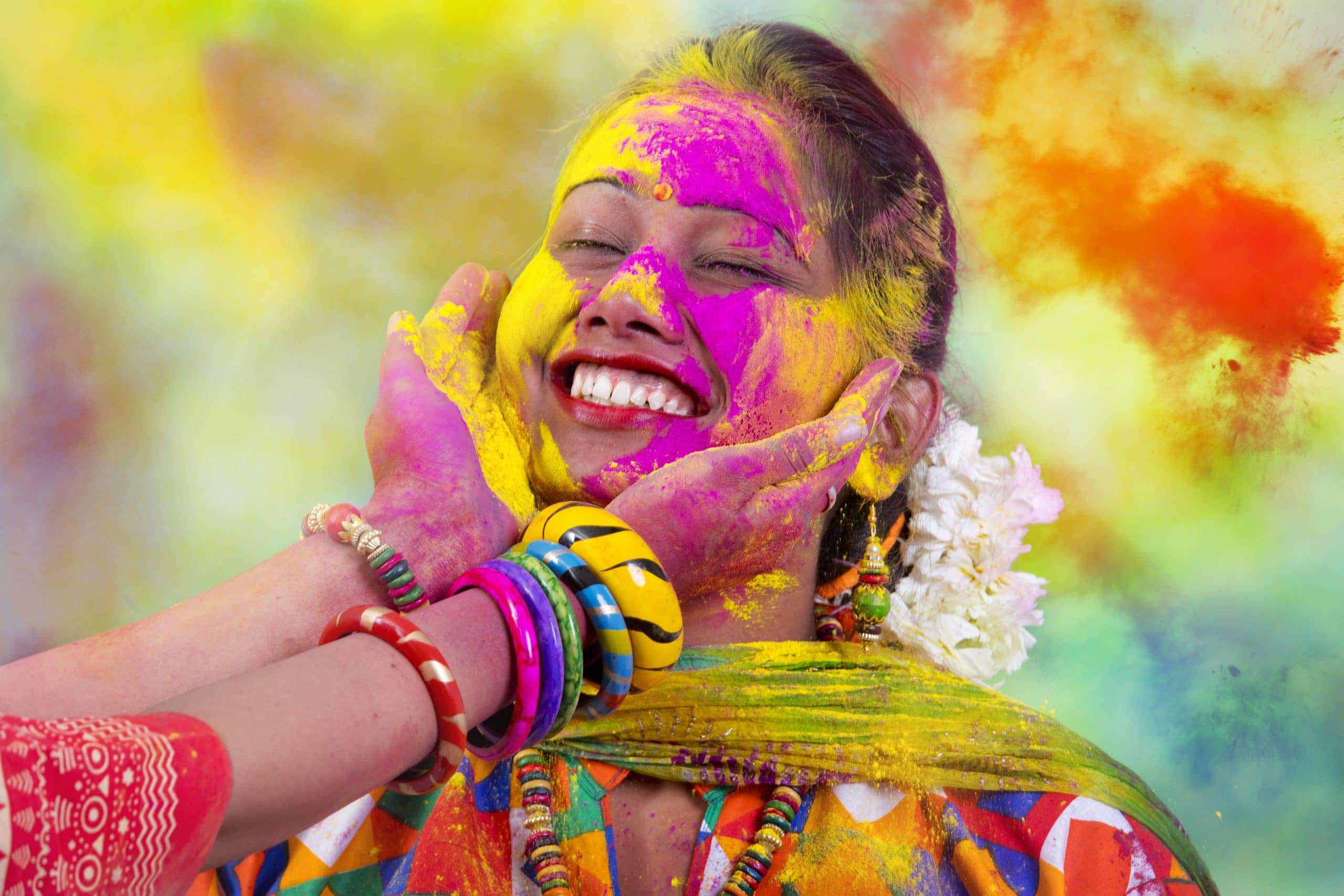 holi festival of colours indien