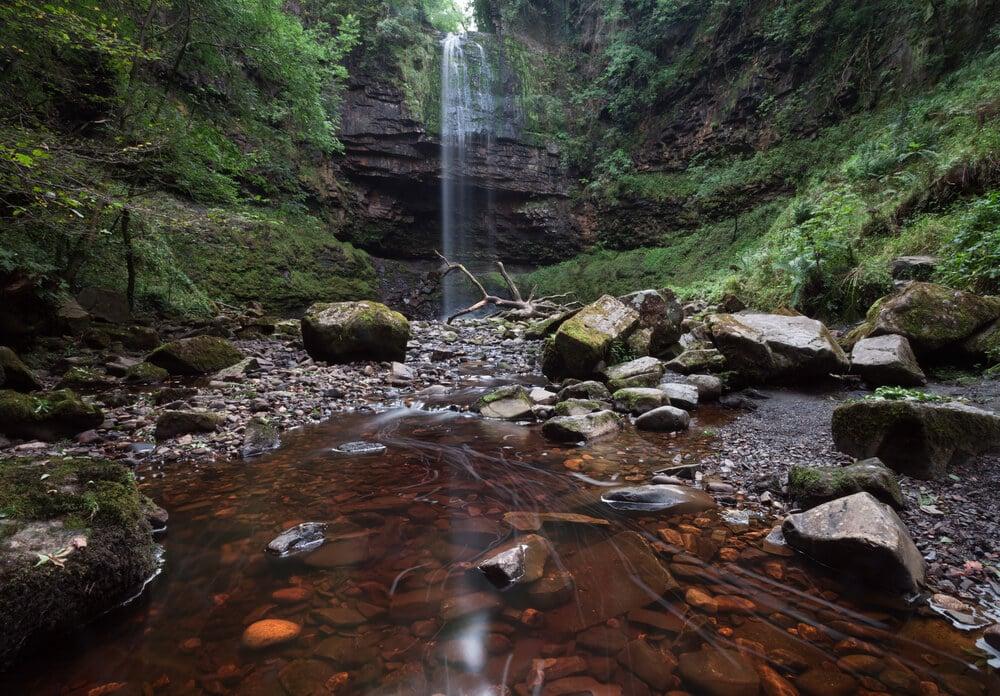 Henrhyd Wasserfall, Brecon Beacon