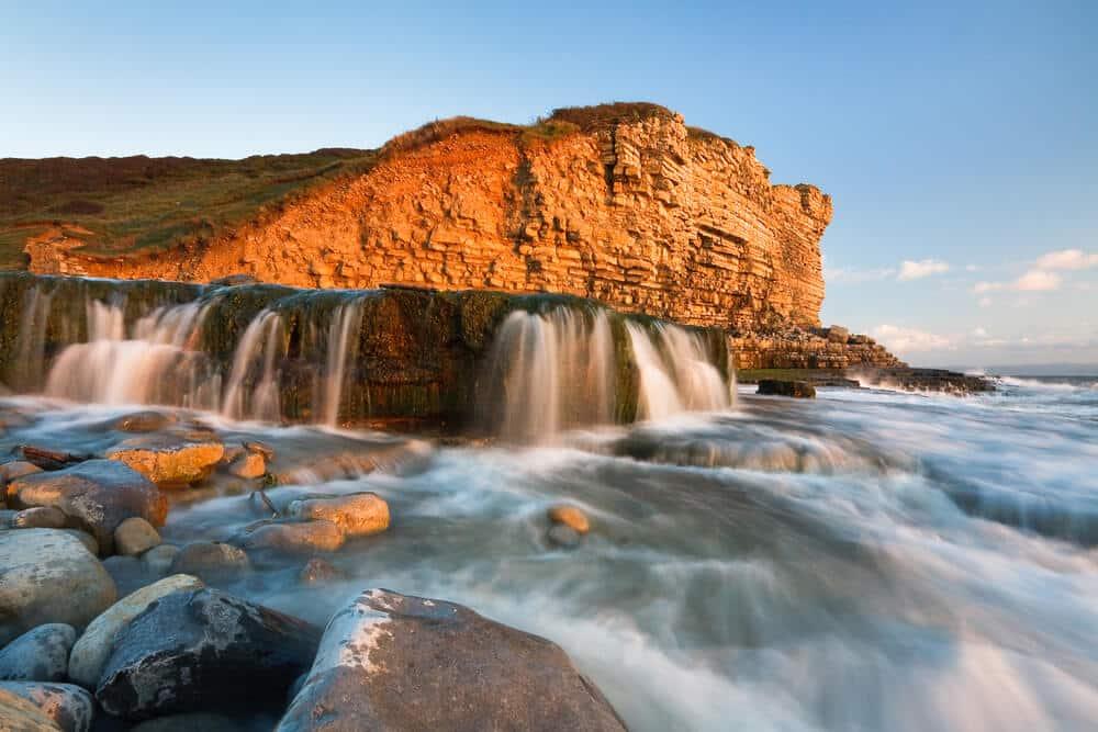 Wasserfall Monknash, Wales