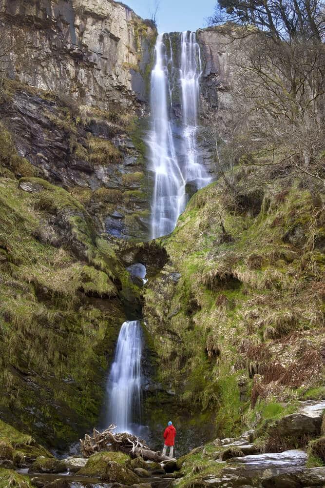 Wasserfall Pistyll Rhaeadr in Wales, England