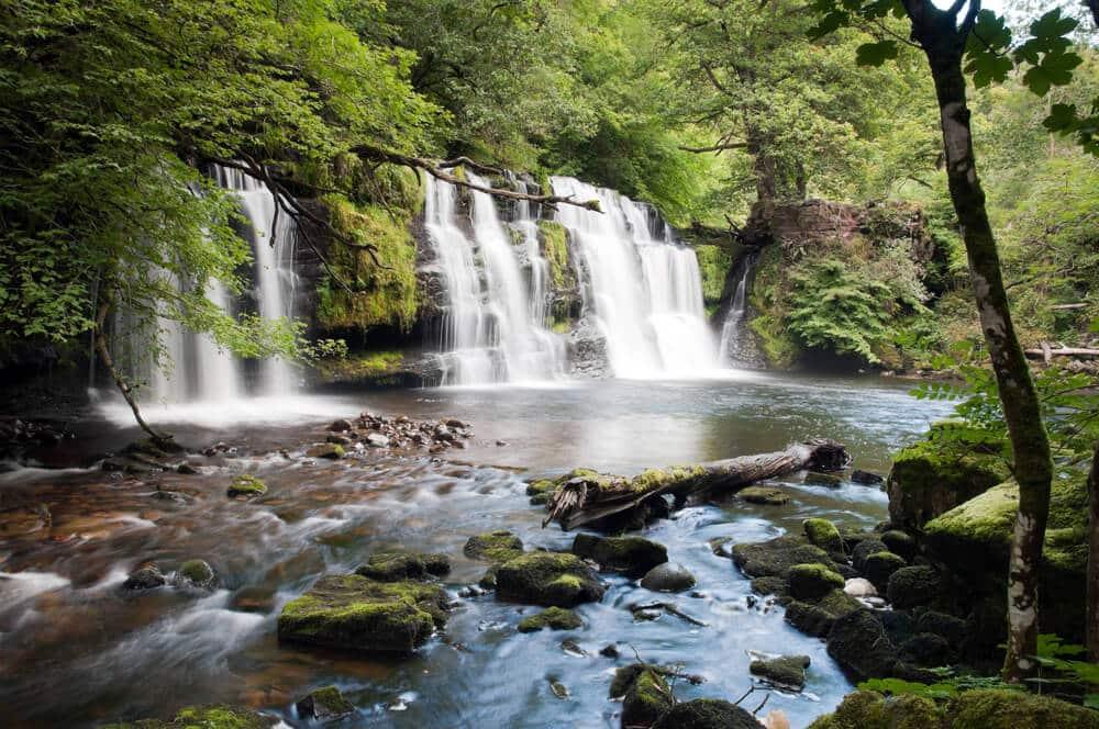 Wasserfall Mellte in Wales