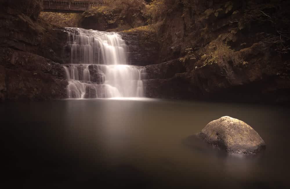 Wasserfall Sgydau Sychryd in Wales